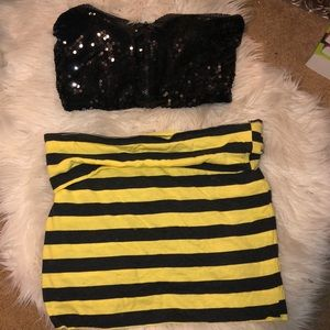 Bumble bee Halloween costume set size small